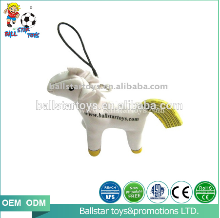 stuffed horse mobile phone keychain