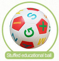 stuffed educational ball for children