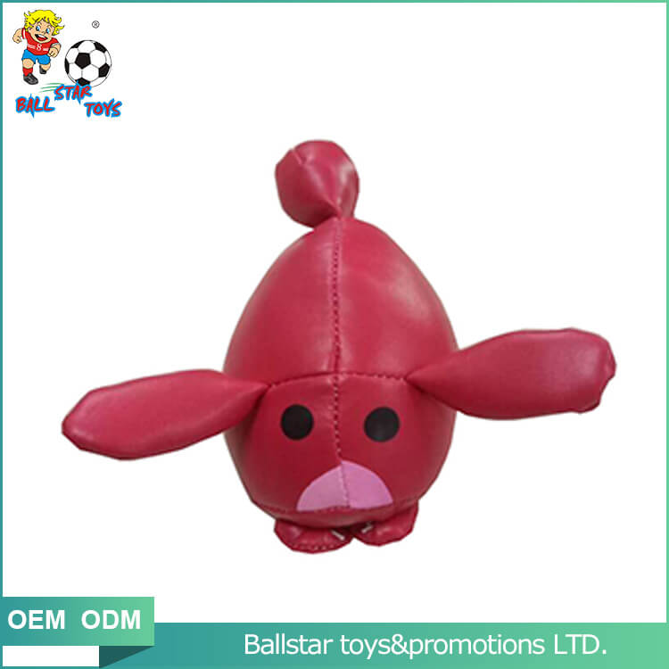 red pig bean bag