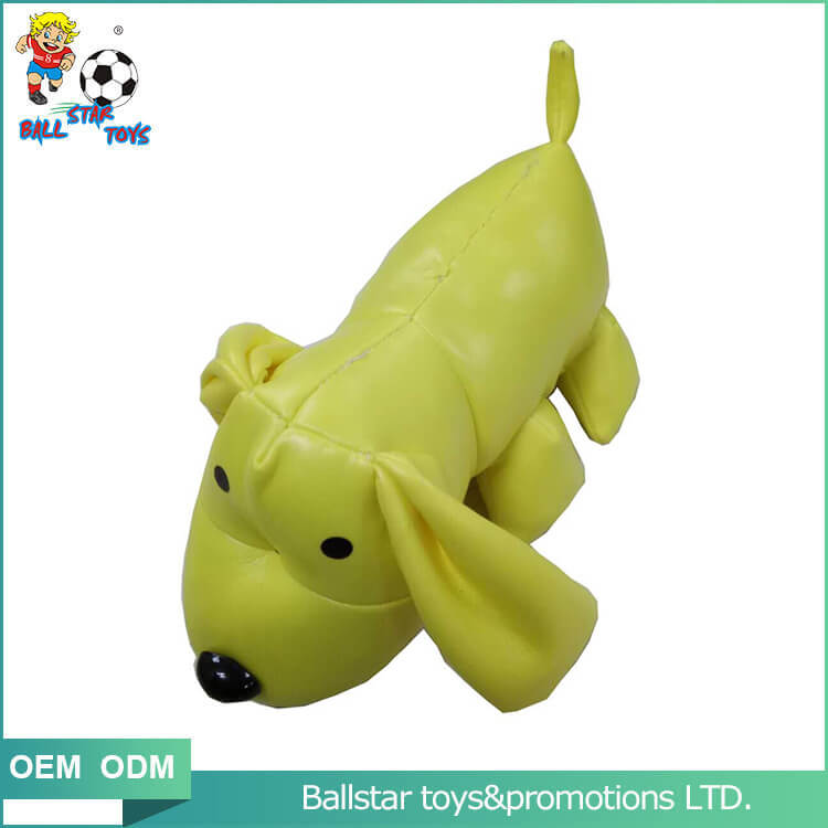 yellow dog bean bag educational toy