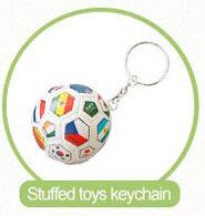 stuffed ball keychain